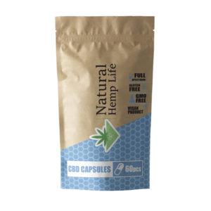 CBD Capsules 60 pcs 600 mg - Natural Hemp Life